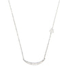 Pave Moon & Attached Star Necklace, Silver