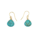 Stone Drop Earrings, Turquoise