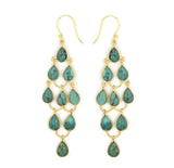 Teardrop Chandelier Hook Earrings, Turquoise