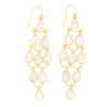 Teardrop Chandelier Hook Earrings, Moonstone