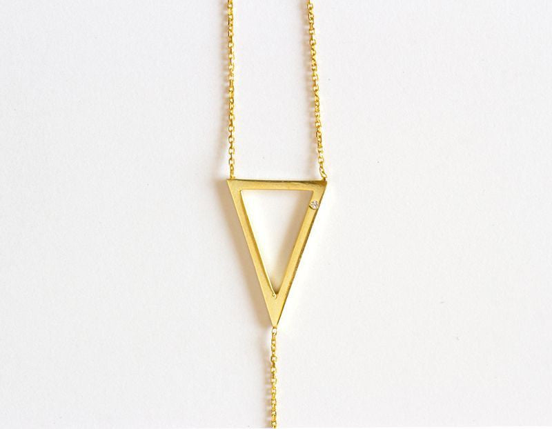 Its Goin Down Lariat Necklace, Gold