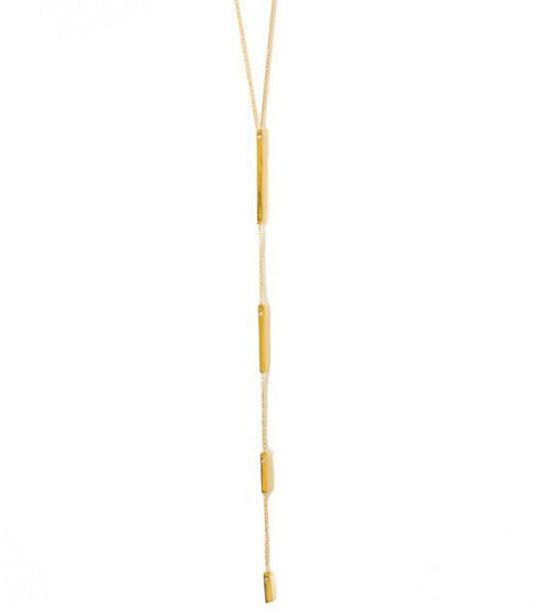 Downtown Lariat Necklace, Gold