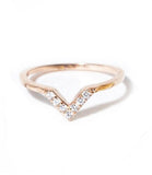 Baby V Pinky - Midi Ring, Rose Gold