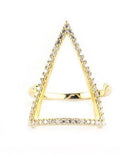 Bermuda Triangle Ring, Gold