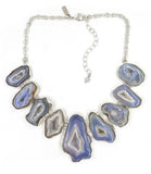 Earth's Treasure Bib Necklace, Oceane
