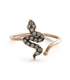 Eden Midi-Pinky Ring, Rose Gold