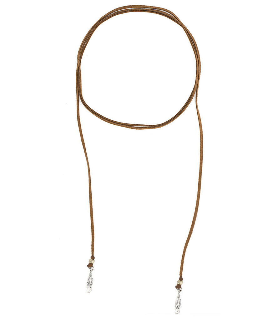 Free Feather Roadie Wrap Choker, Saddle