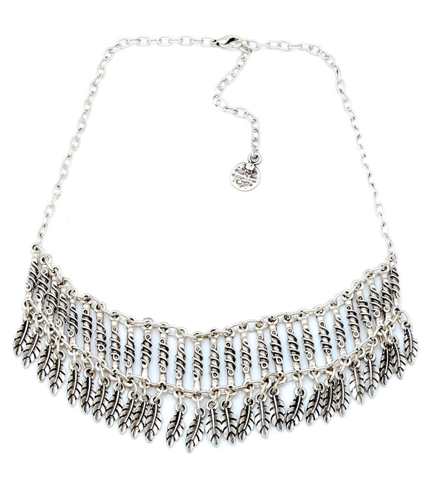 Festive Feather Choker Necklace