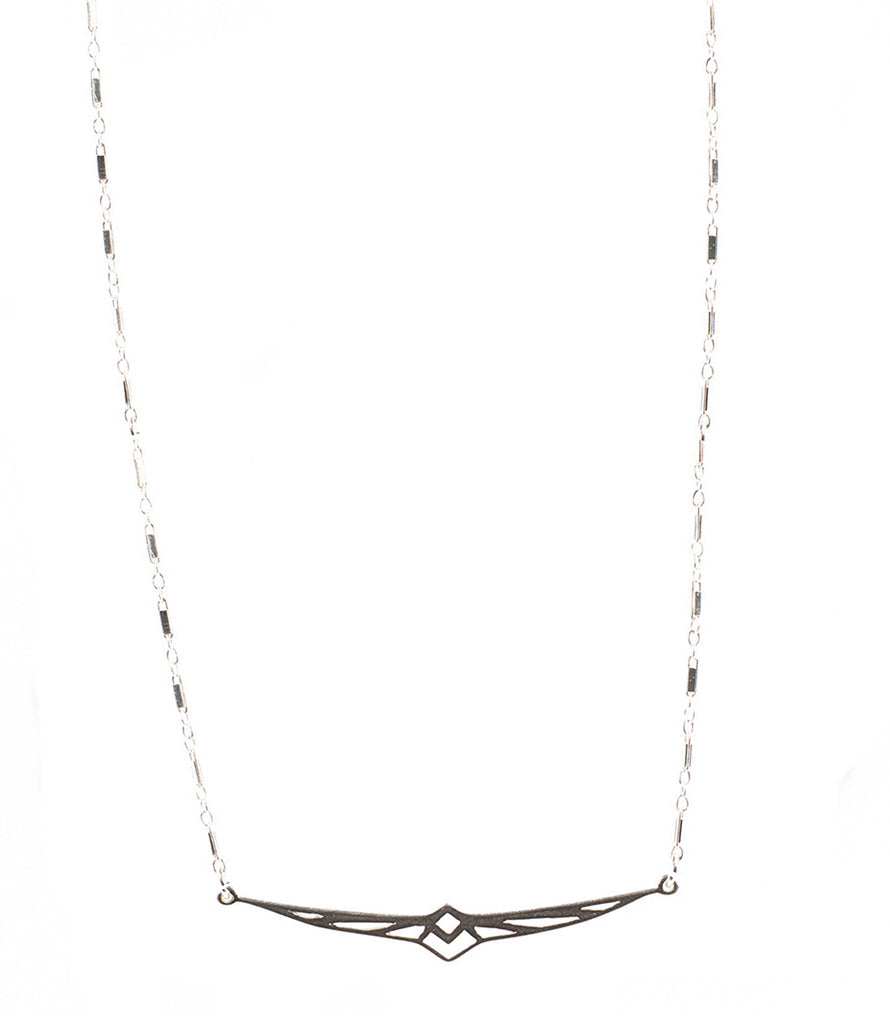 Firebird Necklace, Silver