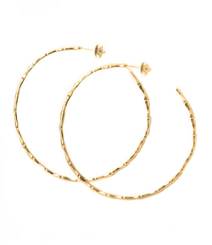 Natalie B Jewelry Hoop Earring in Metallic Gold qRcsOWsa