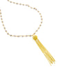Gold Burlesque Tassel Choker Necklace, Silverite