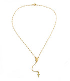 Roma Rosary Necklace, Gold