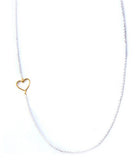 Luv Me Tender Necklace, Gold Heart