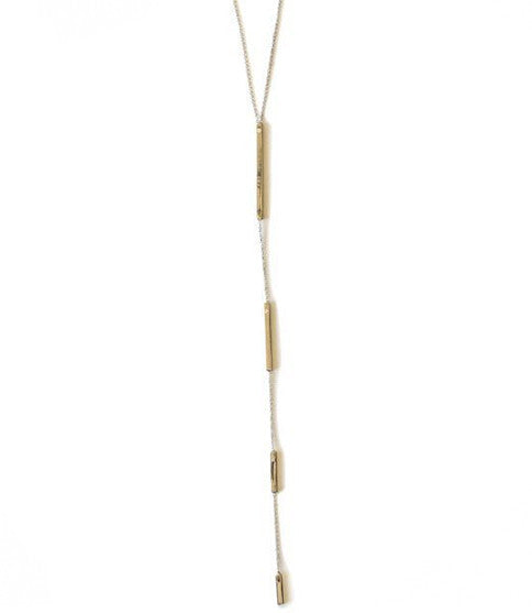 Downtown Lariat Necklace, Rose Gold