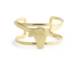 Long Horn Cuff, Brass