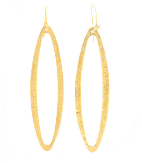 Oval Hoop Earrings, Gold