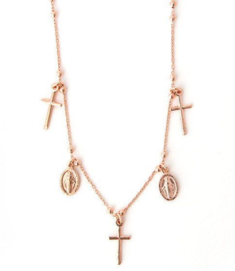 Miraculous Necklace, Rose Gold