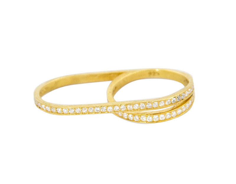 Double Delight Ring, Gold