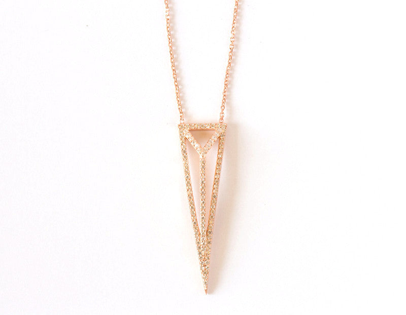 Diversity Necklace, Rose Gold