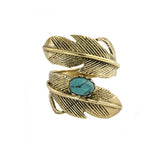 Light as a Feather Brass Ring, Turquoise