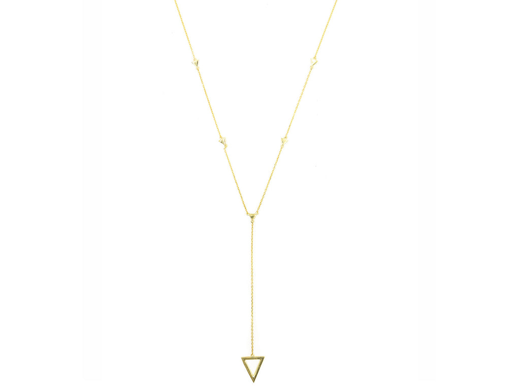 On Point Lariat Necklace, Gold