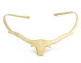 Long Horn Choker, Brass