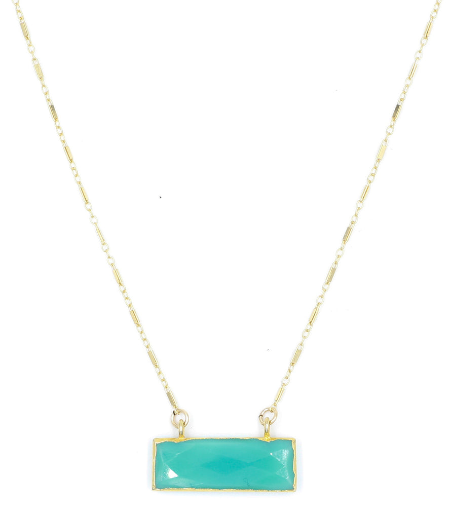 Low Tide Necklace, Chrysoprase