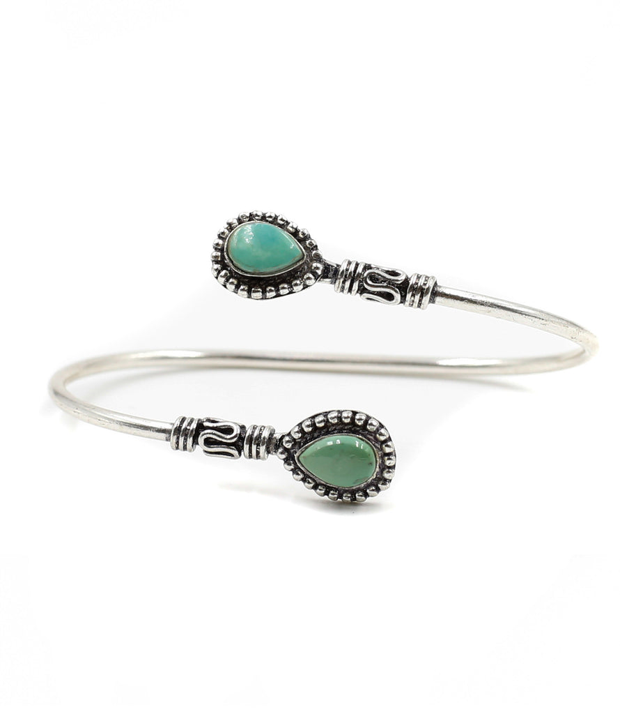 Silver Moon River Bracelet, Turquoise