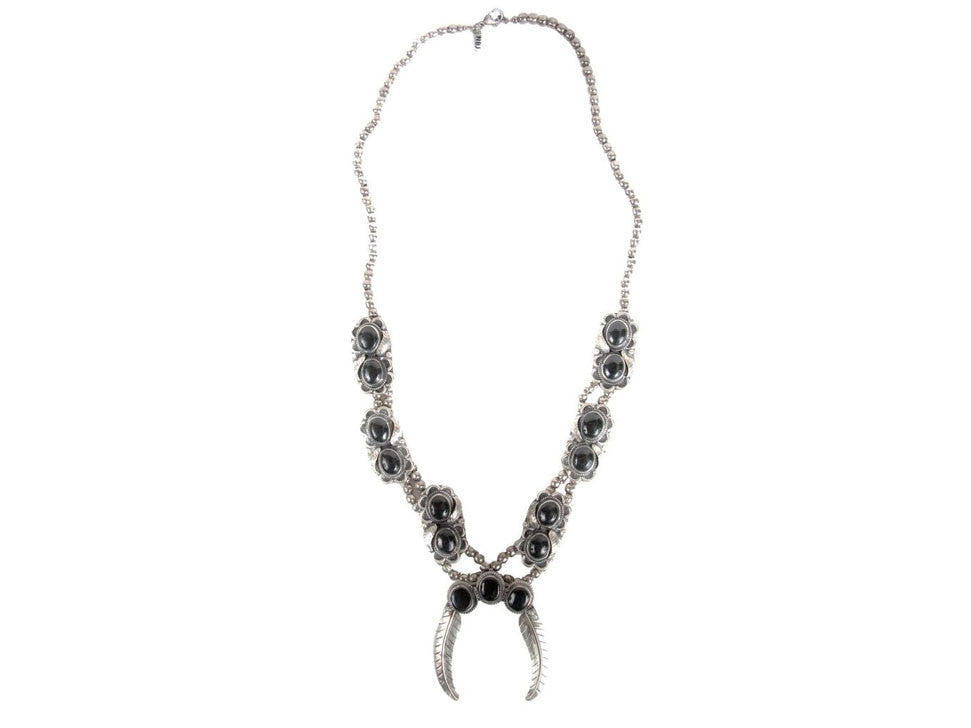 Natalie B Jewelry Naja Squash Blossom Necklace in Metallic Silver 4whUpyh7qA