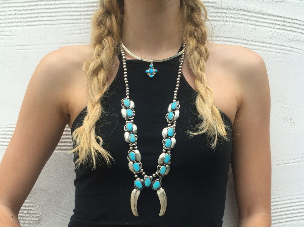 Two Raven Naja Necklace II, Turquoise