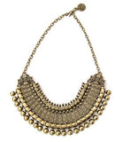 Lucky Princess Bib Necklace, Brass