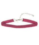 Kate Modele Lace Ribbon Choker, Rouge