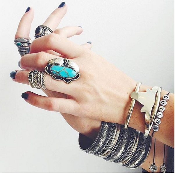 Two Raven Ring, Turquoise