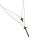 Way Up Necklace, Silver/Black