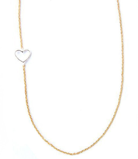 Luv Me Tender Necklace, Silver Heart