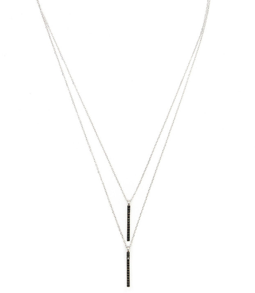 Uptown Necklace, Silver/Black