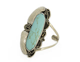 Large Two Raven Cuff, Turquoise