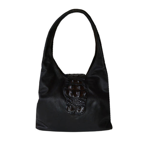 CROCODILE & LEATHER HOBO