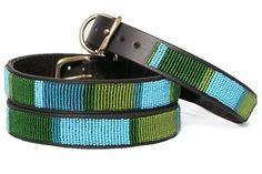 LAGOON BEADED DOG COLLAR