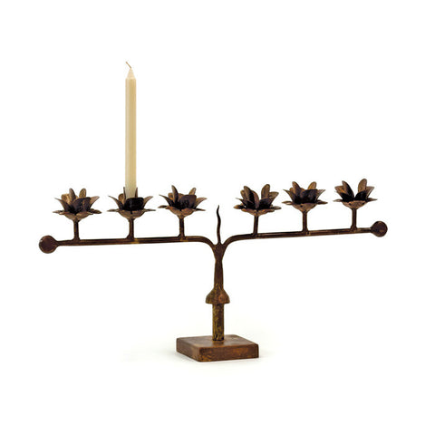 IRON ROSE CANDELABRA