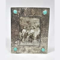 SILVER & TURQUOISE FRAME