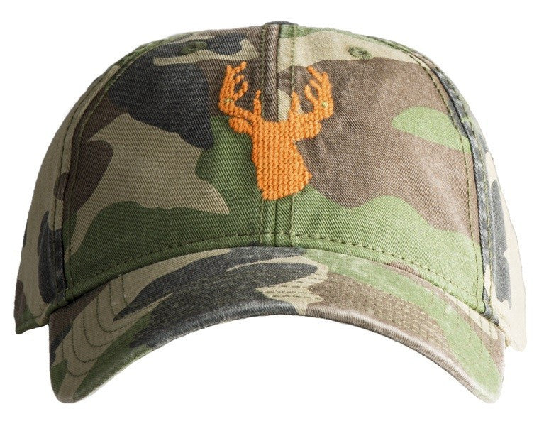HAT ORANGE STAG ON CAMO