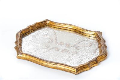 GOLD MIRRORED ANTIQUE TRAY