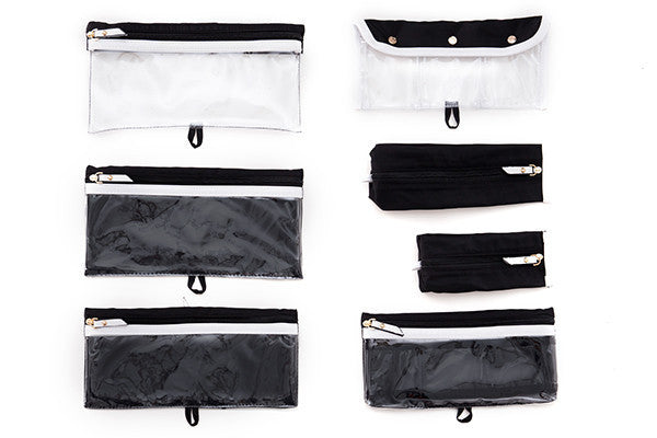 AMOUR TRAVEL CASE BLANC NOIR