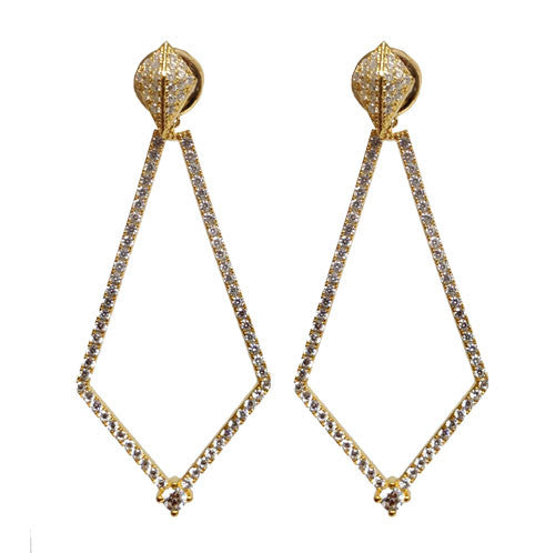 GOLD GEOMETRIC DROP EARRINGS