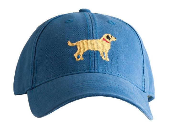 HAT YELLOW DOG ON BLUE