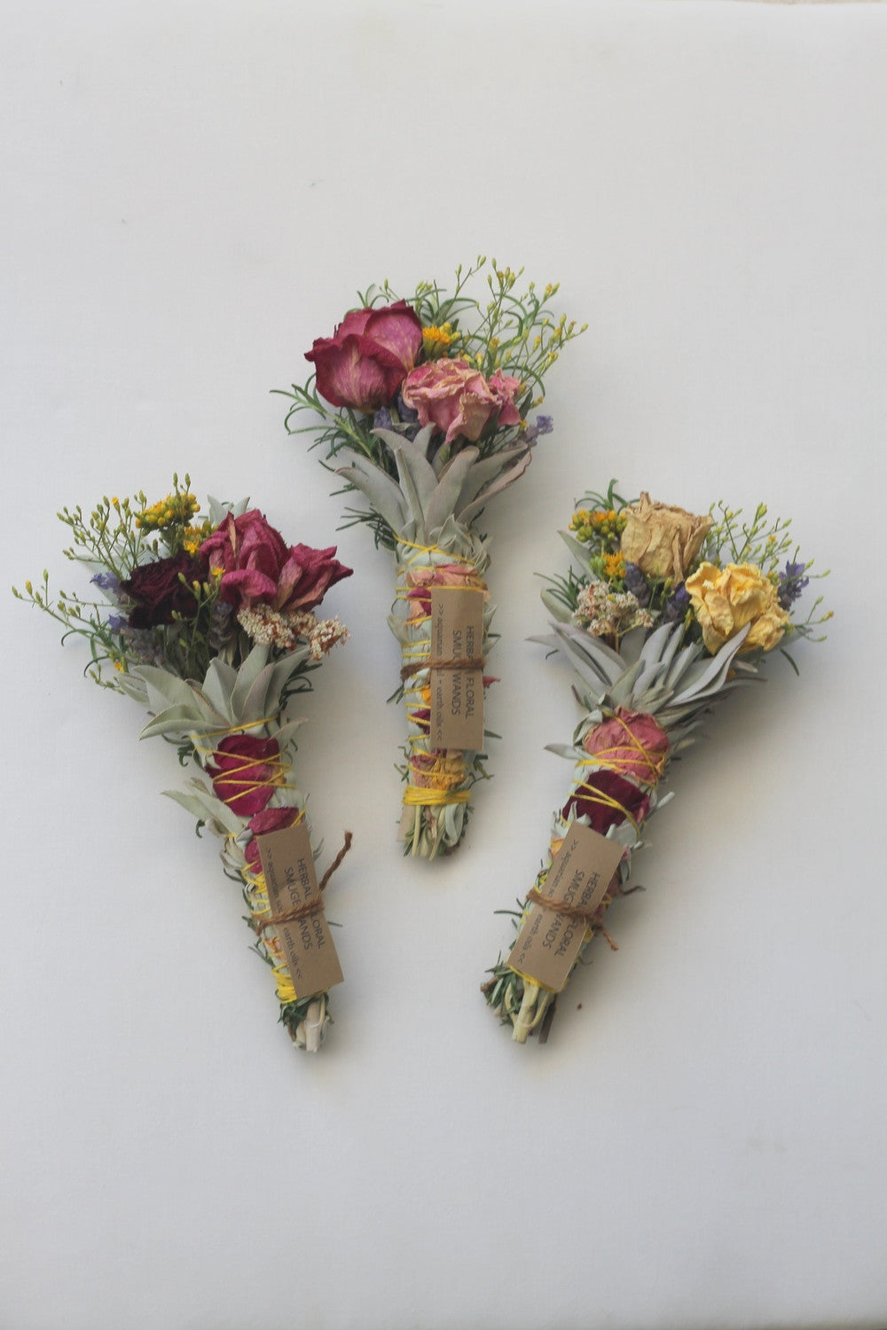 HERBAL FLORAL CEREMONIAL SMUDGE WAND