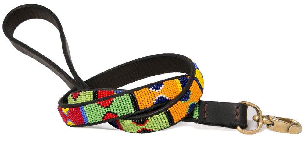 PRIMARY BEADED DOG LEASH