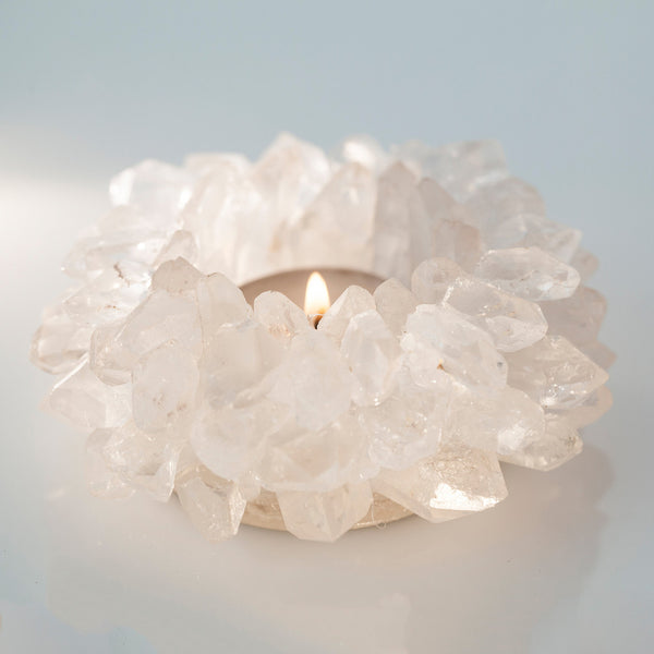 CRYSTAL QUARTZ VOTIVE