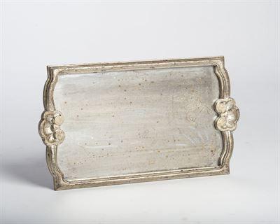 Silver Wooden Tray